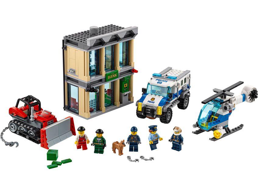ベラ 10659 都市警察ブルドーザーブレークイン銀行ビルディングブロックセットのおもちゃ互換高層建築 60140 子供のための  グループ上の おもちゃ & ホビー からの ブロック の中 2