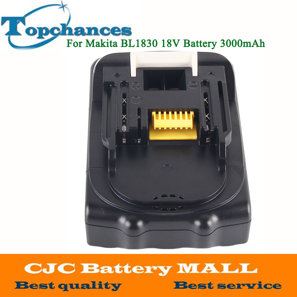 ELEOPTION For Makita 18V Battery 3000mAh Rechargeable Lithium-ion Li-ion Power Tools Batteries for Makita BL1830 BL1835 BL1815 eleoption for makita 18v 3000mah power tool battery pack for bl1830 bl1840 recharegeable battery cordless drill li ion batteries
