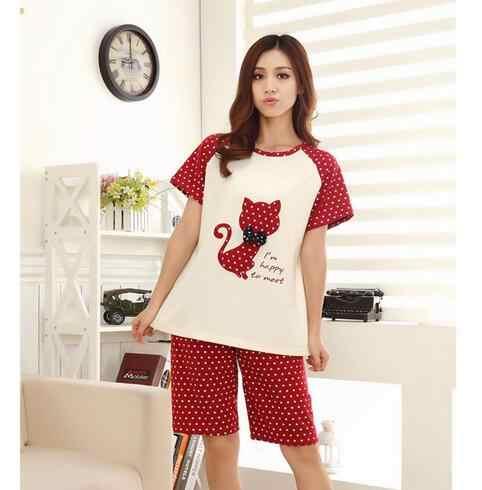 ... Пары Пижама стильная футболка с изображением персонажей видеоигр  молочного шелка летние пижамы Большие размеры домашний костюм ... 4dcc868a7d917