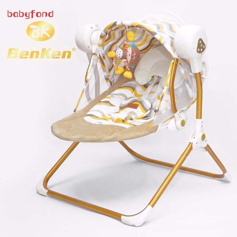 Elektromos swing elektromos baba hinta hintaszék, zene automata bölcső baba alvó kosár placarders chaise lounge újszülött