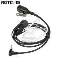 Retevis EA011Y Hörer Mic PTT Headset 3 5mm 1 Pin Akustische Rohr für YAESU für VERTEX Retevis RT40 Walkie talkie Ham Radio|Funkgerätteile und -Zubehör|Handys & Telekommunikation -