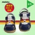 2016 Enfant Zapatos 4 Colores Bebé Muchacha Del Muchacho de Los Niños Primeros Caminante Zapatos de Cuero Cerrado Dedos Unisex Zapatos de Bebé Calzado de Verano