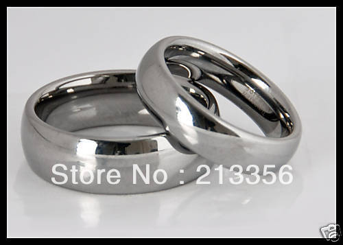 2PCS/ONE PAIR FREE SHIPPING!USA WHOLESALES CHEAP PRICE 6/8MM WOMEN&MENS SILVER DOME TUNGSTEN WEDDING RING HIS/HER BRIDAL RINGS