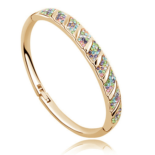 AAAA+ Rhinestone Circle Cuff Bracelet Bangl crystal fashion jewelry charms girls accessories promotion Free shipping top quality 3