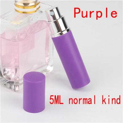 5 мл портативный мини многоразовый флакон для духов с распылителем ароматный насос пустые косметические контейнеры распылитель бутылка для путешествий Новинка - Цвет: 5ml Normal  purple