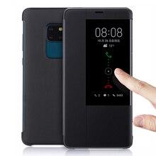 ฝาครอบหนังสำหรับ Huawei Mate 20 Lite Pro X 20Pro 20 lite 20X Mate20Pro Mate20X Mate20lite Mate20 สมาร์ทดู