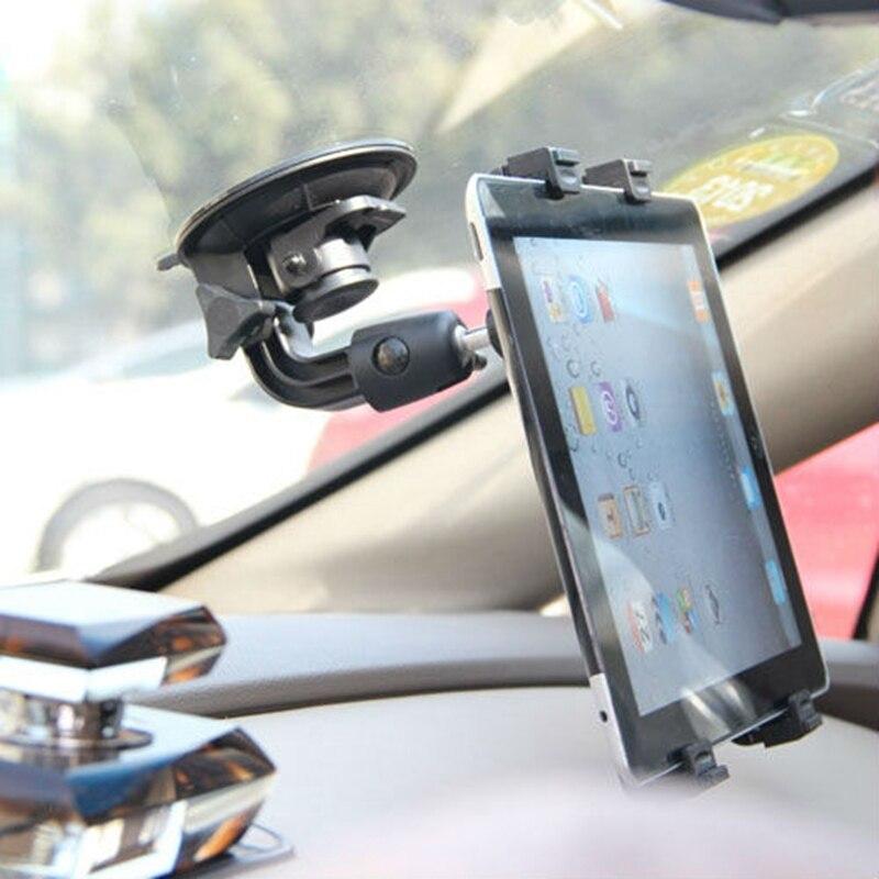 imágenes para Sostenedor universal del coche del clip del soporte del parabrisas para el ipad 2/3/4 air mini Tablet PC Holder Giratoria de 360 Grados para el móvil 7 8 9 10 pulgadas