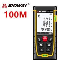 SNDWAY laser distance meter 100M range finder Laser rangefinder Tape Measure ruler Roulette Diastimeter trena Tool