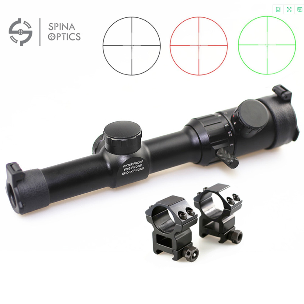 Hunting Air Rifle scope Green Red Illuminated 1-4x20 Range Finder Reticle Rifle scope Sight with Scope caza 25.4mm Rail Mount hunting riflescope 1 4x20 rifle scope green red illuminated range finder reticle air optical sight 25 4mm 20mm scope mount