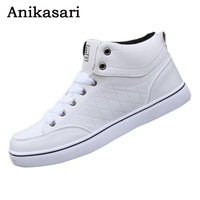 2017 Men Shoes Casual High Top Skate Shoes Fashion Ankle Boots Mens Trainers Tenis Man White
