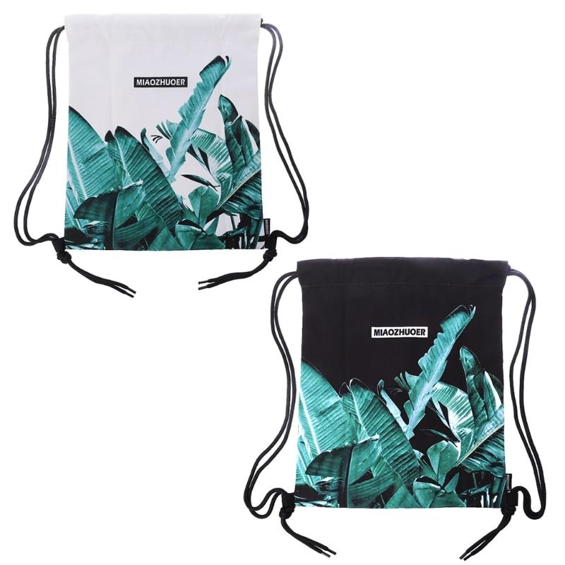 Drawstring Backpack Waterproof Gymbag Floral Bag String Bag Cinch Sack Unisex