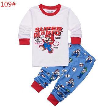 14c2c96dc8 Nuevo pijama infantil de dibujos animados para niños ropa de dormir para el  hogar ropa de algodón ...