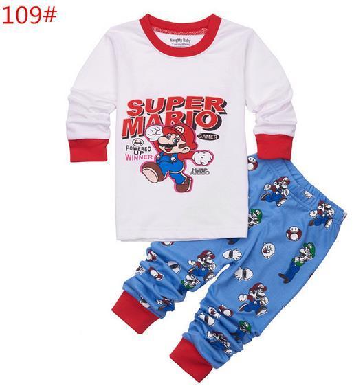 6336028a3 Nuevo pijama infantil de dibujos animados para niños ropa de dormir para el  hogar ropa de algodón de dibujos animados pijama para bebés 2 7Y pijamas  para ...