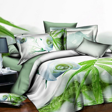 Bedding Sets 2/3pcs 3D Duvet Cover Pillow Cases Cover Set Size Queen Twin Full Animal Flower Pattern Comfortable Home Textile
