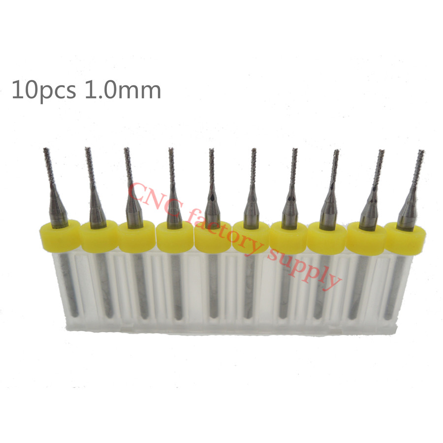 Hot sale10pcs PCB milling cutter 1.0mm fish tail milling cutter corn milling cutter tungsten carbide mini end mill engraving CNC 1pc 8 35mm good qualtiy tungsten steel carbide end mill engraving corn teeth bits cnc pcb rotary burrs milling cutter drill bit