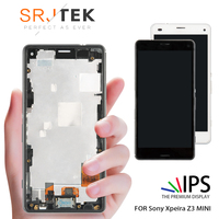 4.6 INCH For SONY Xperia Z3 Compact Display Tested For SONY Xperia Z3 Compact LCD Touch Screen with Frame Z3 Mini D5803 D5833