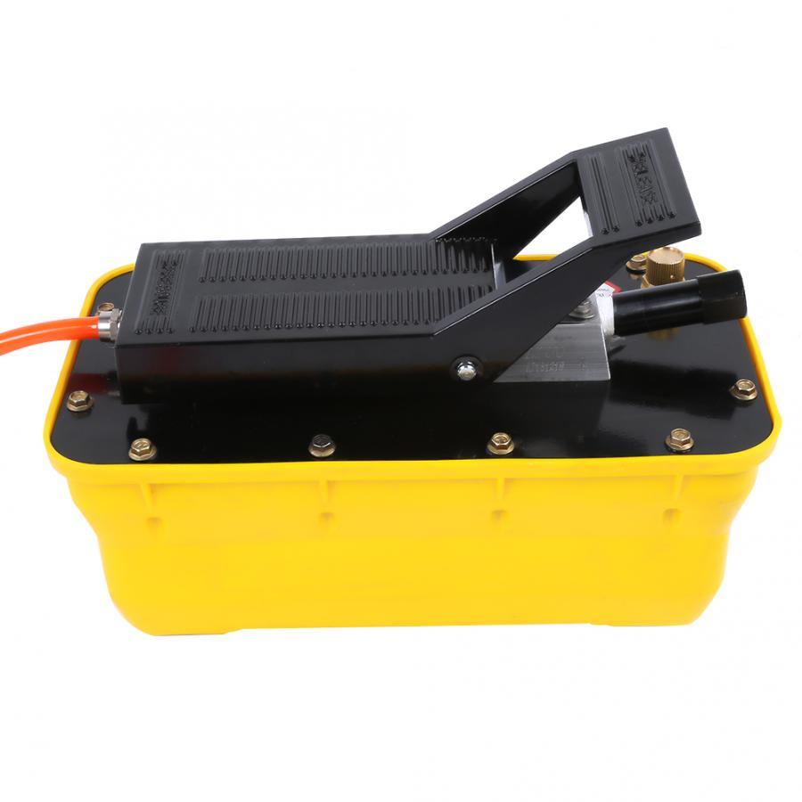 Pompe à pied hydraulique 2.3L Air 3/8 NPT à simple effet pneumatique avec coupleur de tuyau pompe hydraulique pneumatique - 3