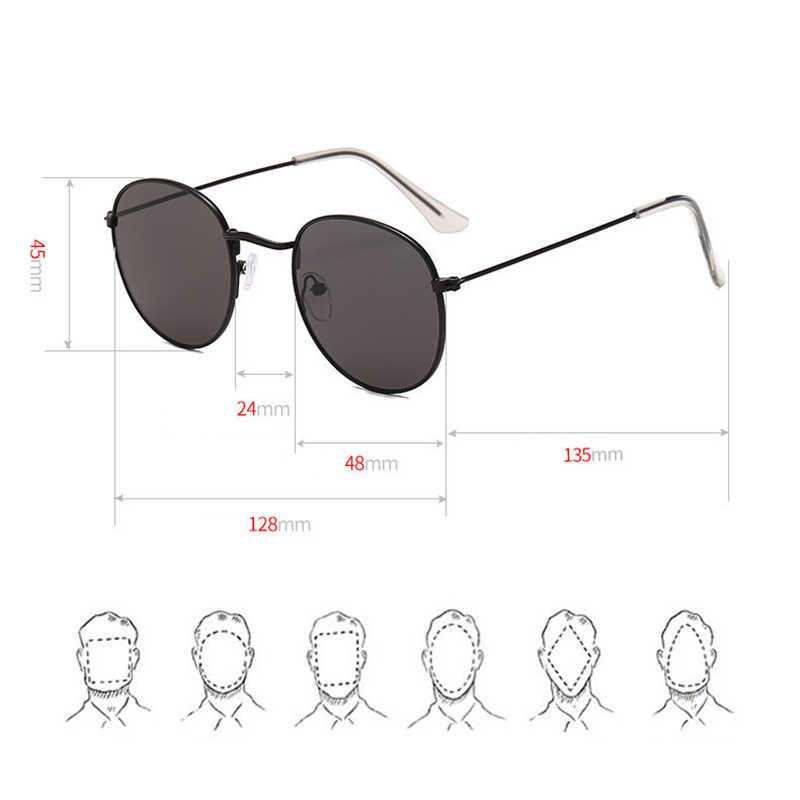 LeonLion 2019 klasyczna mała ramka okrągłe okulary kobiety/mężczyźni marka projektant aluminiowe lustrzane okulary przeciwłoneczne Vintage Modis óculos