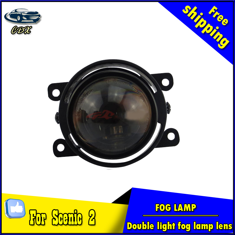 Car Styling HID Double light lens fog lamp for Scenic II 2006-2012 E-MARK & DOT Authentication for Scenic 2 foglight Accessories