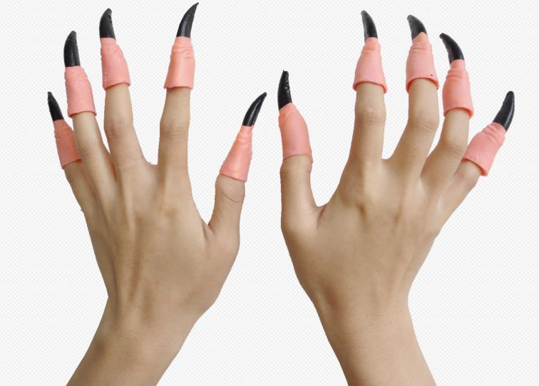 Vampire witch fake nails horror scary Halloween costume ...
