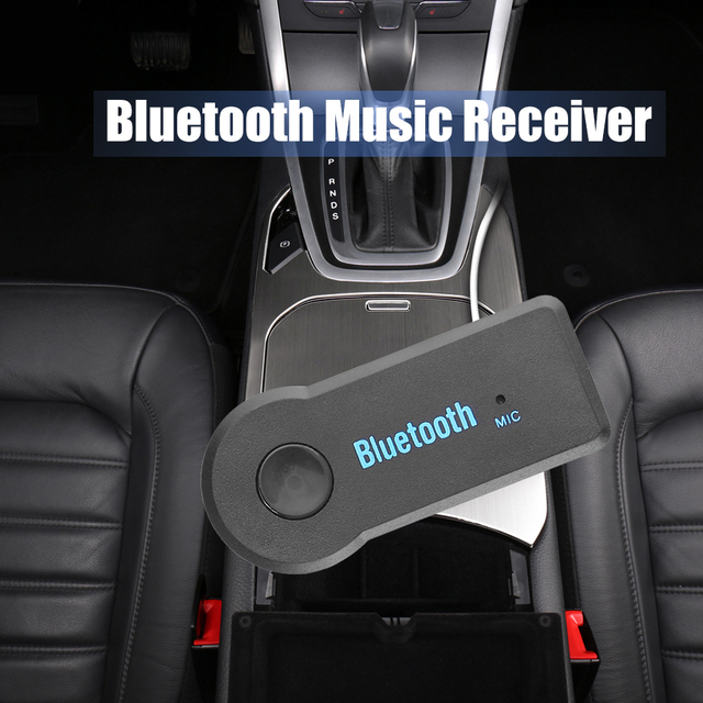 Wireless Car Bluetooth Aux Receiver Adapter Bluetooth Handsfree Car Kit 3.5mm jack Aux Bluetooth Receiver Adapter For Speaker