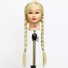 "26 ""#613 100% Matt Faser Friseur mannequinkopf Styling Puppe Puppe Ausbildung Kopf für Salon Praxis"