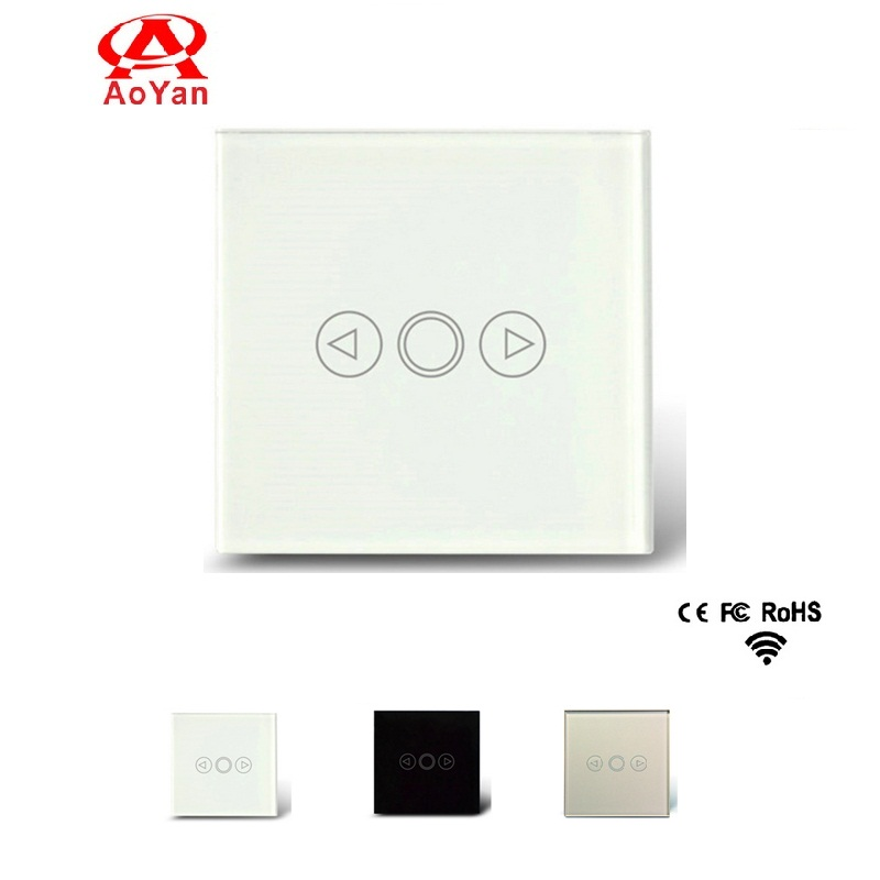 AOYAN EU Standard Touch Switch, Crystal Glass Switch Panel ,PWM Triac LED Dimmer Switch For Dimmable Spot Lights touch switch eu standard dimmer