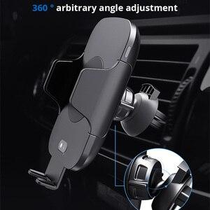 Image 2 - 10 W charge rapide Qi chargeur de voiture sans fil Auto serrage capteur infrarouge support pour téléphone chargeur induction pour iPhone X XS XR Max 8 Samsung S8 S9 S10 Plus Xiaomi mix 2s Mix3 Mi9 huawei Mate20 Pro