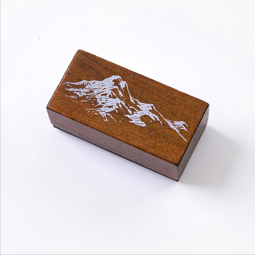 Винтажные лесные травянистые растения, украшение Луны, штамп, деревянные и резиновые штампы для скрапбукинга, канцелярские принадлежности, сделай сам, стандартный штамп