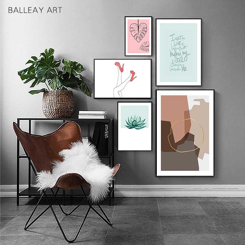 Abstract Art Prints Minimalist Line Nordic Wall Art Canvas Painting Fashion Posters And Prints Wall Pictures For Living Room