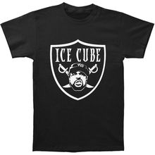 High Quality Custom Printed Tops Hipster Tees T-shirt Ice Cube Men's Raider T-shirt Black