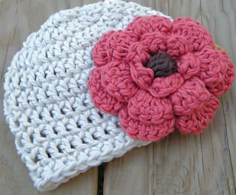 Baby Knitted Hats Beanie Hats With Flower Baby And Kids Flower Hat