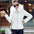 Cuello de Piel sintética Parka Chaqueta de Algodón Abrigo de Invierno de Las Mujeres mujeres de la capa de desgaste de la nieve gruesa parkas chaqueta de señora clothing capucha Anorak