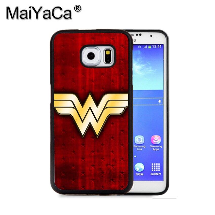 Maiyaca Прохладный Wonder Woman костюм DC чехол для телефона для Samsung S9 S8 плюс S7 S6 Edge Plus Примечание 8 7 5 S5 S4 мобильный резиновые Чехол