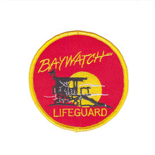 Articles de haute qualité en ligne salut BAYWATCH sauveteur LOGO thermocollant brodé PATCH/BADGE bordure merrow(China)