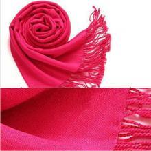 Klassische New Luxury Marke Schal Unisex Solide Weiblich Männlich Kanada Wolle Cashmere Schal Pashmina Quasten Frauen Männer Wrap Warm(China)