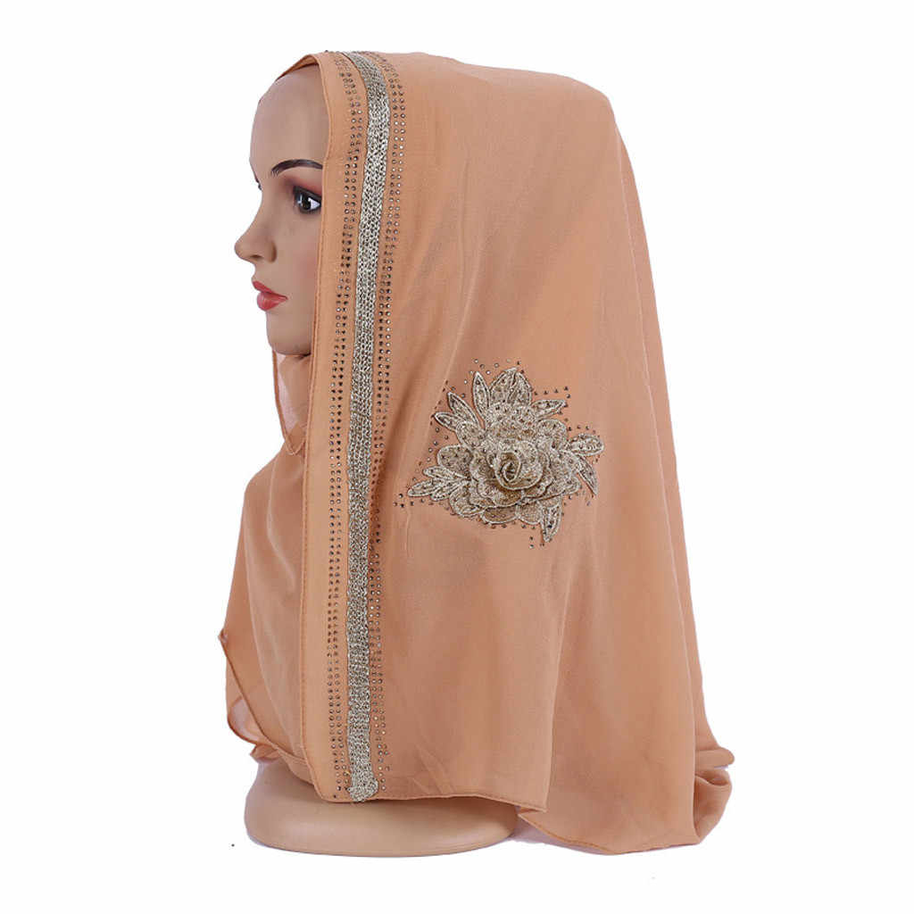 Золотые африканские турбины для женщин блестящие простые шифоновые мусульманские хиджаб шарф платок повязка на голову тюрбанты niqab # G6