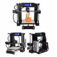 Anet A6 Big Size Desktop 3D Printer Kits Reprap i3 DIY Self Assembly LCD Screen with 16GB SD Card 3D Printing Size 220*220*250mm