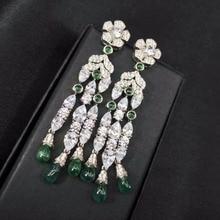 Qi Xuan Trendy Jewelry New Earring Retro Tassel Earring S925 font b Silver b font Zircon