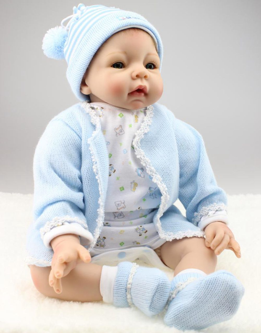 22 Quot Realistic Silicone Reborn Baby Boy Alive Look Real
