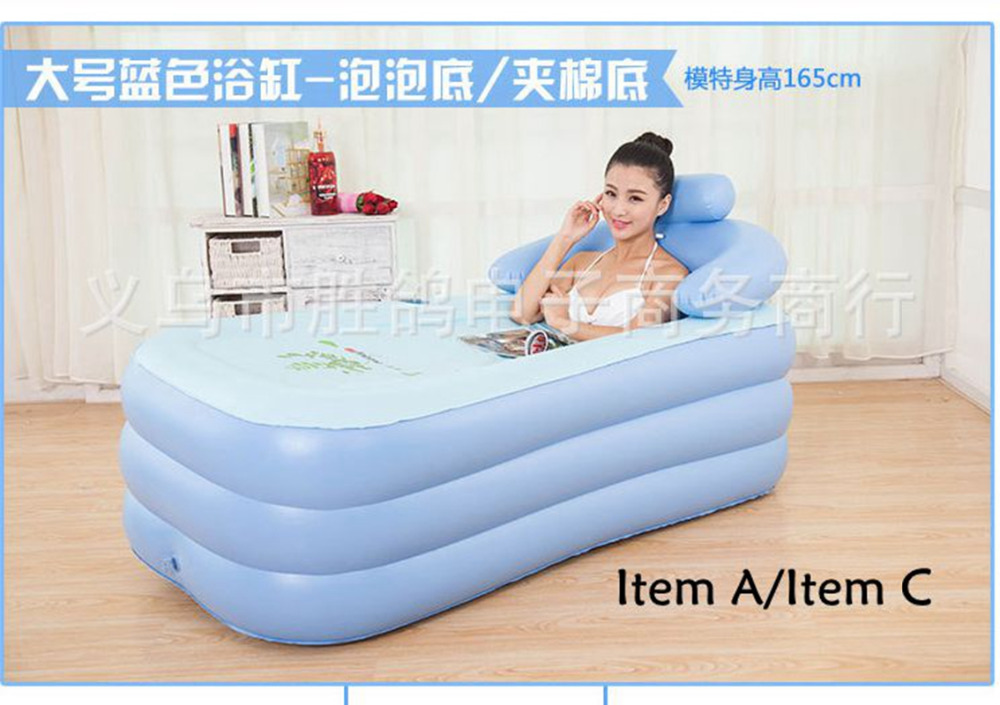 Adult and children Thickening keep warm Portable Inflatable bath tub ...