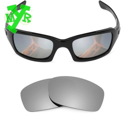 2d226189a4 Mry 24 K oro y plata titanio 2 par polarizadas lentes de reemplazo para OAKLEY  gafas de sol FIVES SQUARED marco en Disfraces de cine de La novedad y de  uso ...