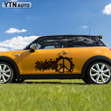 2pc/set side door airplane sport vinyl car sticker for MINI