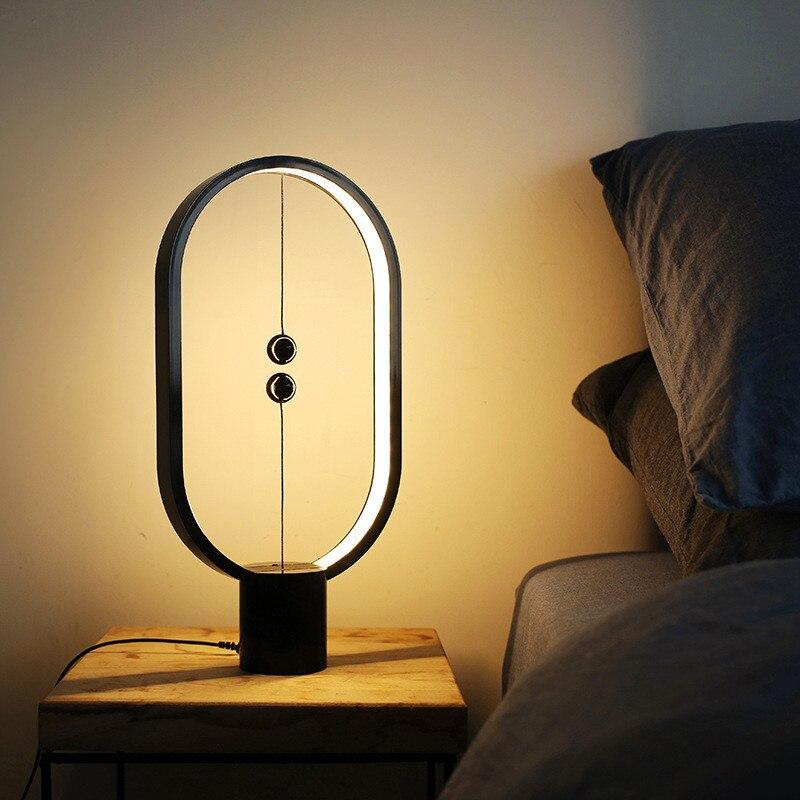 Ins модный умный баланс Ночной свет Магнитный кибер знаменитостей лампа спальня присветодио дный кроватный светодиодный ночник с USB вилкой Б...