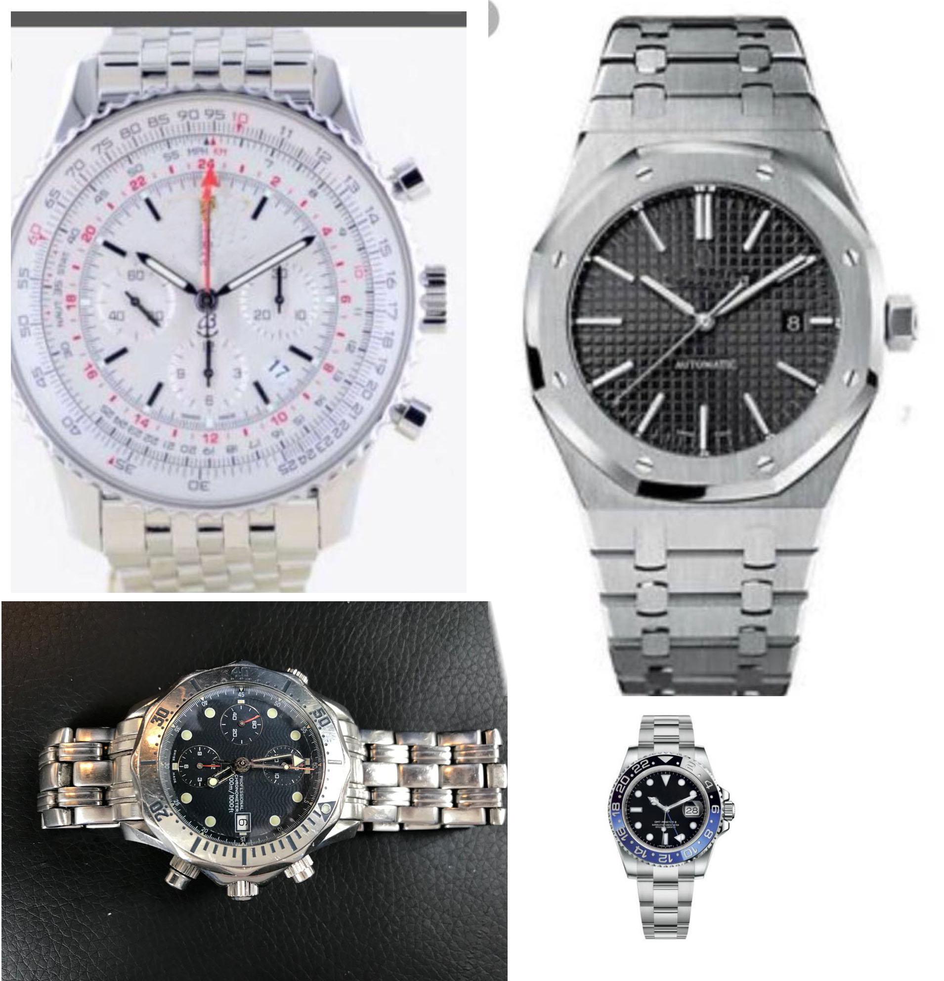 Luxury Brand New Quartz Chronograph Men GMT Watch Stopwatch Sapphire Stainless Steel WatchesLuxury Brand New Quartz Chronograph Men GMT Watch Stopwatch Sapphire Stainless Steel Watches