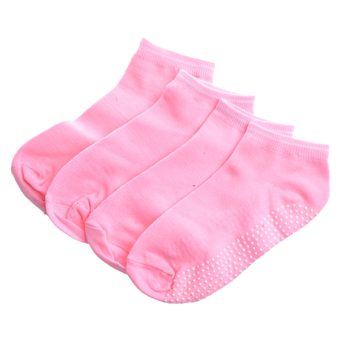 Hot 2 pairs Socks with non-slip massage Granules for women - Pink