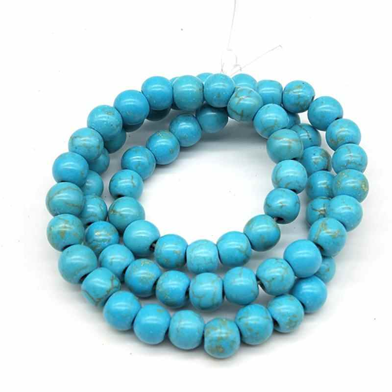 DIY 150/100/65/50/30/20pcs 3/4/5/6/8/10/12mm Beads Round Green Color Stone Space For Bracelet Necklace Jewelry Making Wholesale