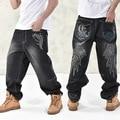 NEW 2016 Fashion Baggy style men's jeans hip hop dancers loose big size jeans boys skateboard jeans rap plus size 30-46