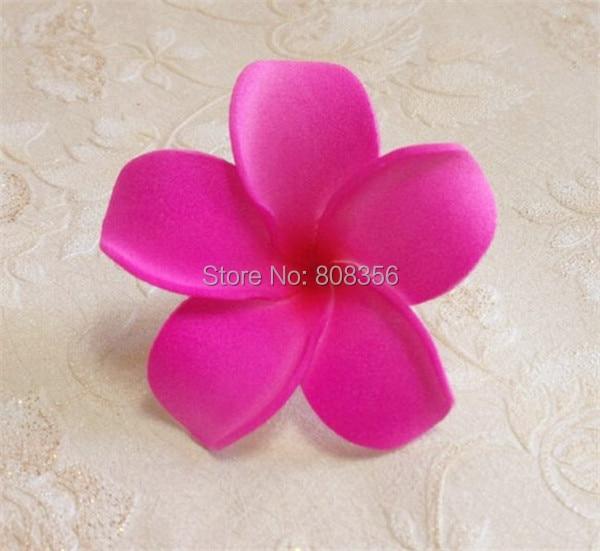 200pcs Fashion HOT Elegant 6cm Artificial Simulation PE Flowers Frangipani Flower DIY Headware Hairclips Jewelry