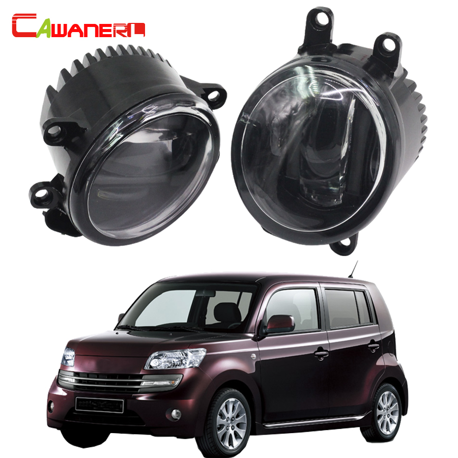 Cawanerl 2 X Car Right + Left Fog Light Daytime Running Lamp DRL White LED Light For Daihatsu Materia (M4_) MPV 2006 Onwards cawanerl 2 x car led fog light drl daytime running lamp accessories for nissan note e11 mpv 2006